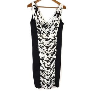 White House Black Market Floral Slimming Dress